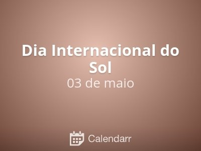 Dia Internacional do Sol