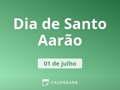 Dia de Santo Aarão
