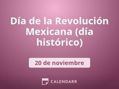Día de la Revolución Mexicana (día histórico)