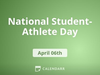 National Student-Athlete Day