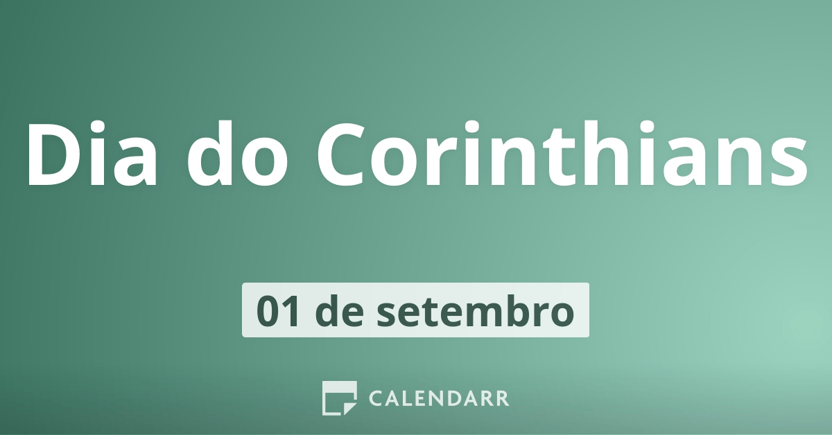 Dia do Corinthians  1 de setembro 7bb134b20addc