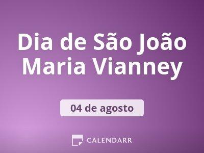 Dia de São João Maria Vianney