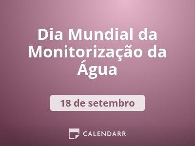Dia Mundial da Monitorização da Água