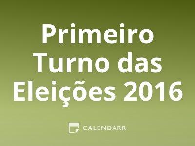 Primeiro Turno das Eleições 2016