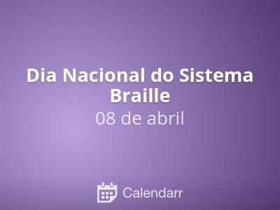 Dia Nacional do Sistema Braille