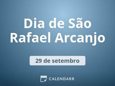 Dia de São Rafael Arcanjo