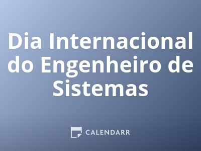 Dia Internacional do Engenheiro de Sistemas