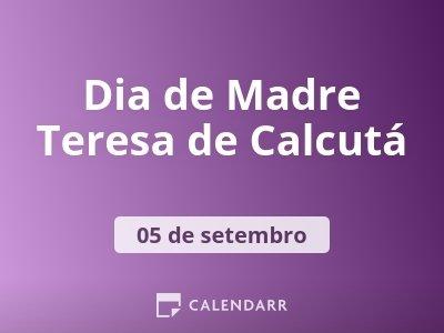Dia de Madre Teresa de Calcutá