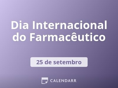 Dia Internacional do Farmacêutico