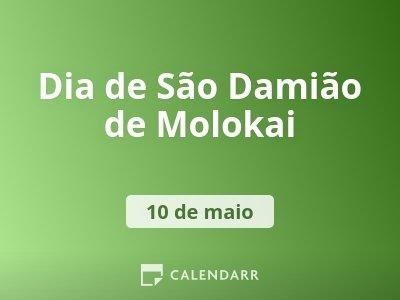 Dia de São Damião de Molokai