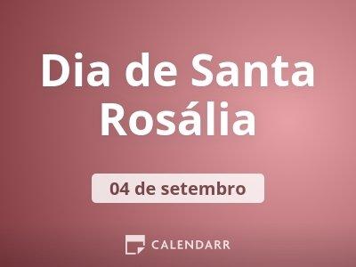 Dia de Santa Rosália