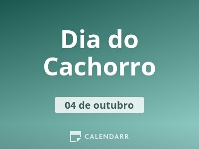 Dia do Cachorro
