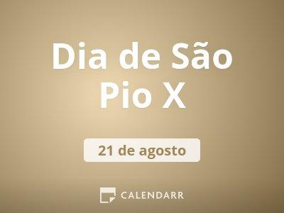 Dia de São Pio X