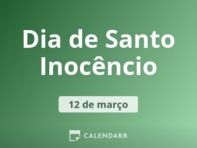 Dia de Santo Inocêncio