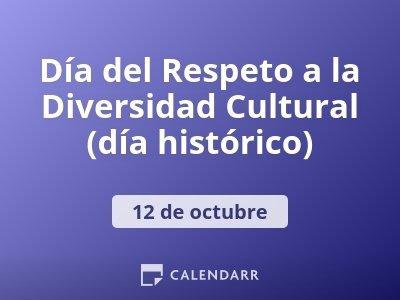 Día del Respeto a la Diversidad Cultural (día histórico)
