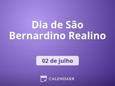 Dia de São Bernardino Realino