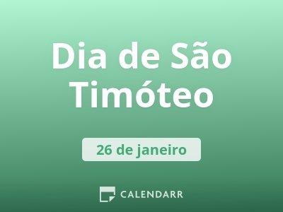 Dia de São Timóteo