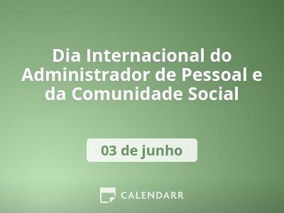 Dia Internacional do Administrador de Pessoal e da Comunidade Social