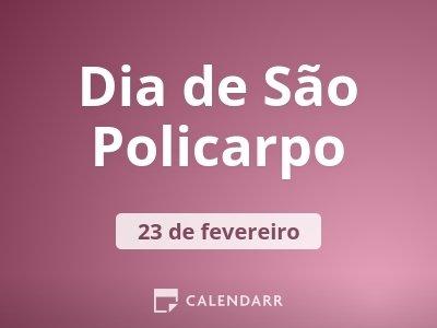 Dia de São Policarpo