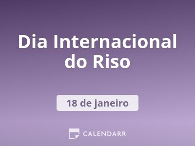 Dia Internacional do Riso