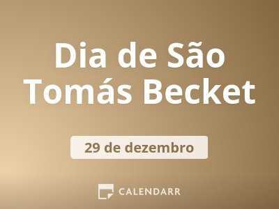 Dia de São Tomás Becket