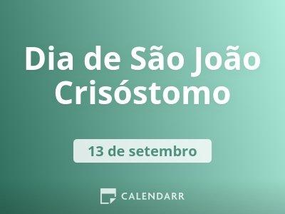 Dia de São João Crisóstomo