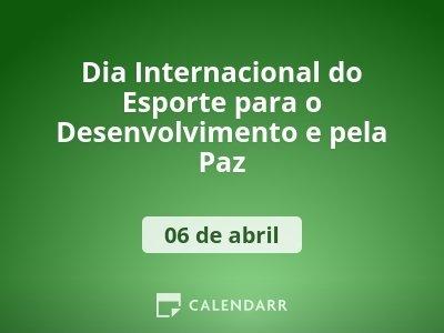 Dia Internacional do Esporte para o Desenvolvimento e pela Paz