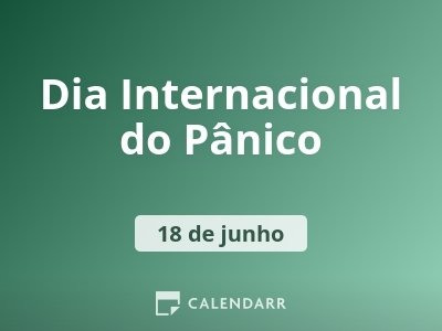 Dia Internacional do Pânico