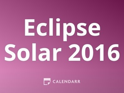 Eclipse Solar 2016