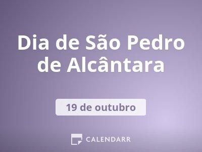Dia de São Pedro de Alcântara