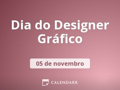 Dia do Designer Gráfico