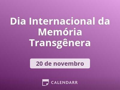 Dia Internacional da Memória Transgênera