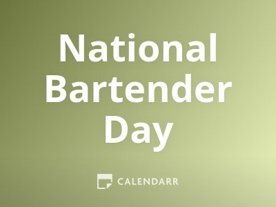 National Bartender Day