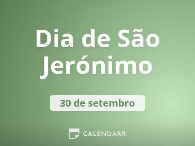 Dia de São Jerónimo