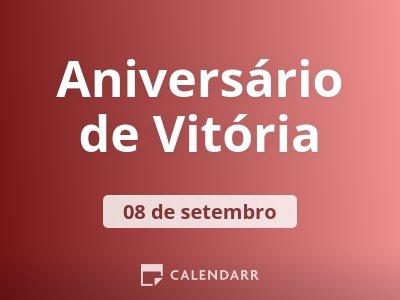 Aniversário de Vitória