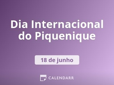 Dia Internacional do Piquenique