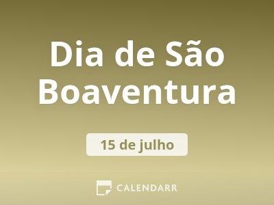 Dia de São Boaventura