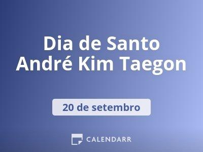 Dia de Santo André Kim Taegon