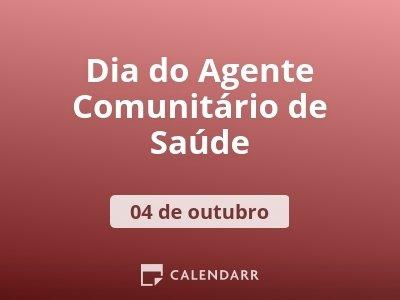 Dia do Agente Comunitário de Saúde