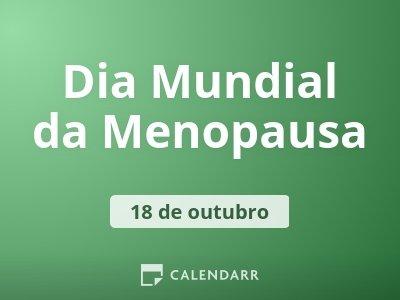 Dia Mundial da Menopausa