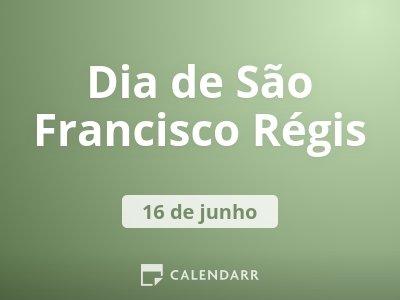 Dia de São Francisco Régis
