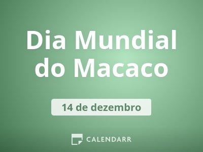 Dia Mundial do Macaco