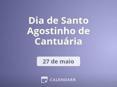 Dia de Santo Agostinho de Cantuária
