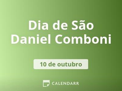 Dia de São Daniel Comboni
