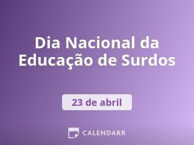 Dia Nacional da Educação de Surdos
