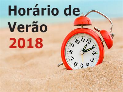 Início do Horário de Verão 2018-2019
