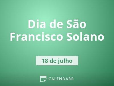 Dia de São Francisco Solano