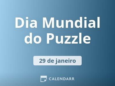 Dia Mundial do Puzzle