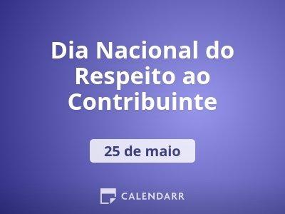 Dia Nacional do Respeito ao Contribuinte