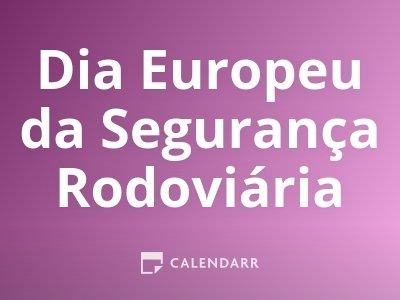 Dia Europeu da Segurança Rodoviária